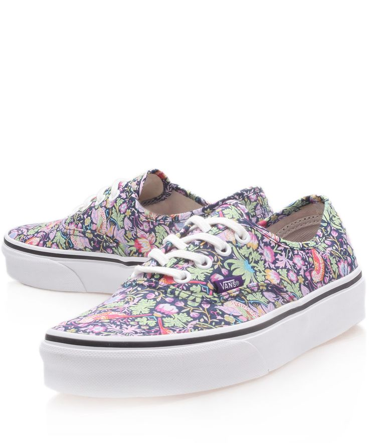 Vans x Liberty Art: Navy Strawberry Thief Liberty Print  Trainers, from Liberty