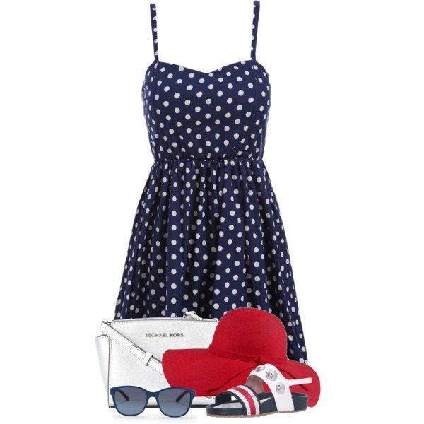 what shoes to wear with blue polka dot dress 5
