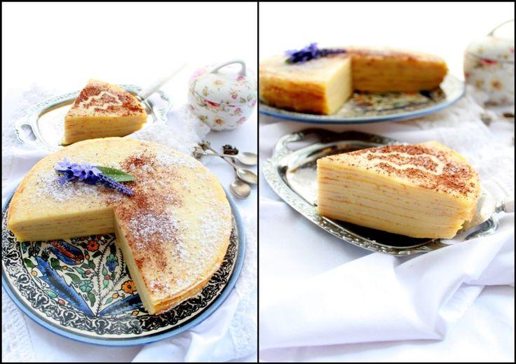 Блинный пирог с лимонным кёрдом (кердом, курдом...)