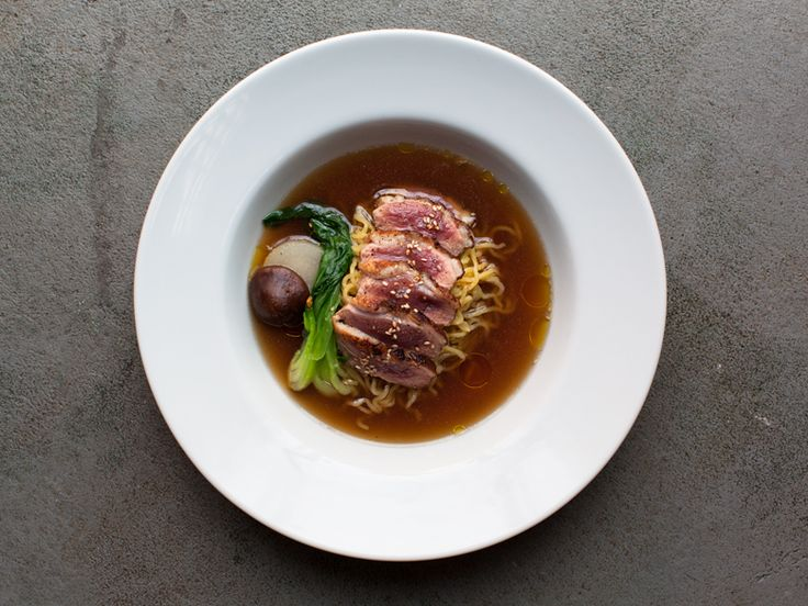 Baoburg 126 N 6th St bt Berry St & Bedford Ave Brooklyn, NY 11249 718-782-1445  seared duck breast on a bed of thick ramen, bok choy, shiitake, and poached daikon