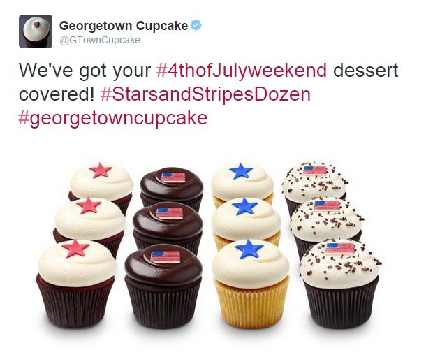 Great Twitter post from Georgetown Cupcake in New York, NY / Sympathique post Twitter de Georgetown Cupcake à New York, NY  https://twitter.com/GTownCupcake/status/616977543556669440