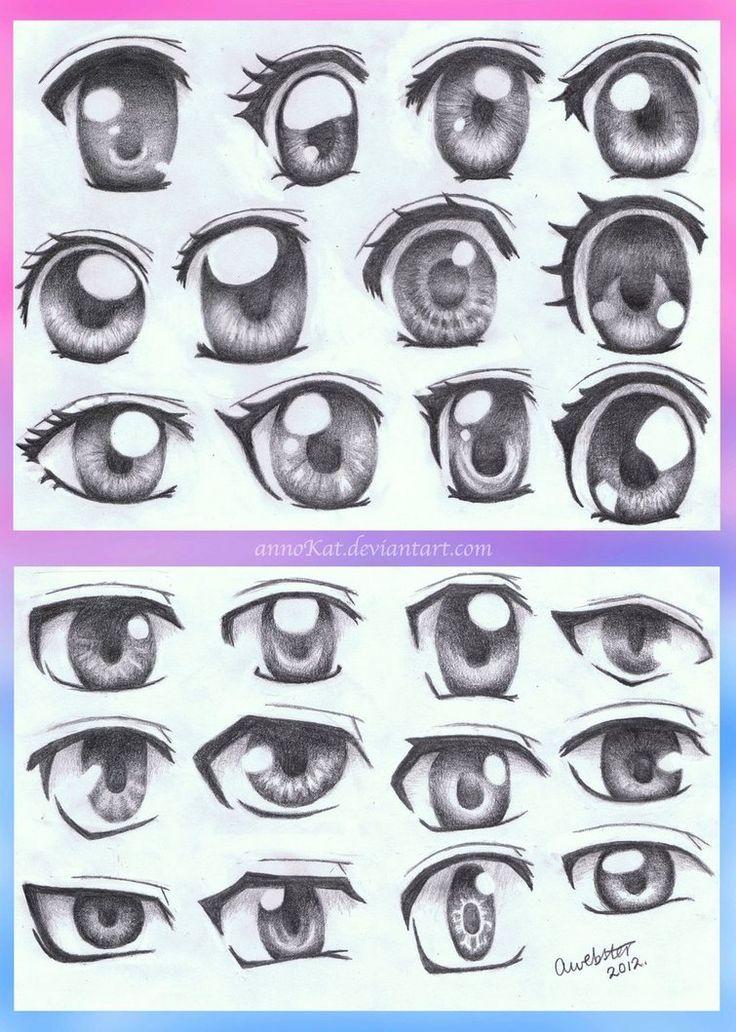 Come disegnare occhi in stile manga