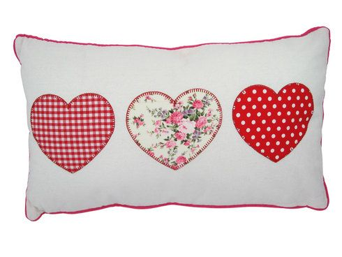 Amore Appliqué Cushion. 50% Off! Was £14.99 now just £7.49!