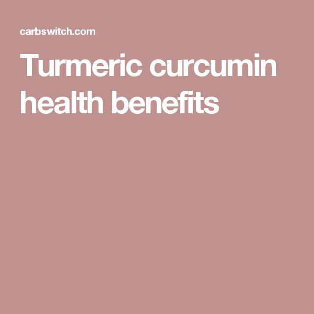 Turmeric curcumin health benefits