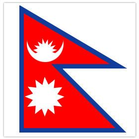 Get here information and facts about national flag of Nepal. We are here some of the general information about Nepali flag. This is one of the national pride of Nepal.    National Flag of Nepal  There are certain