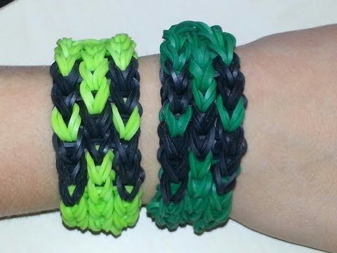 This YouTube tutorial shows you how to make a Minecraft Creeper Rainbow Loom Bracelet