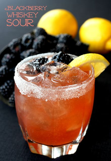 Kick up your traditional whiskey sour with fresh blackberries and fresh lemon juice.