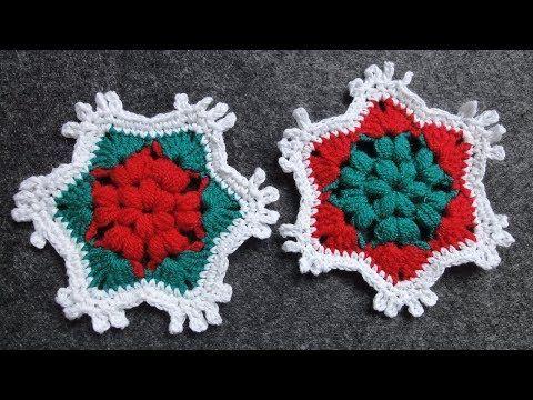 Вязание крючком Crochet : Рождественский мотив  Снежинка