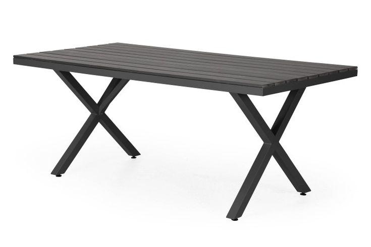 Leone matbord-Svart/grå-200x100 cm-Brafab
