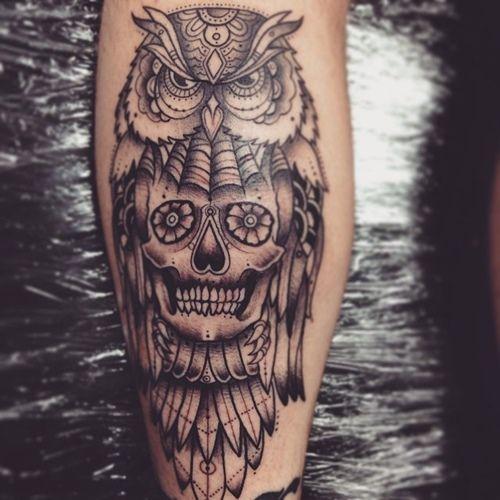 25 best ideas about owl skull tattoos on pinterest owl for Owl tattoo skull