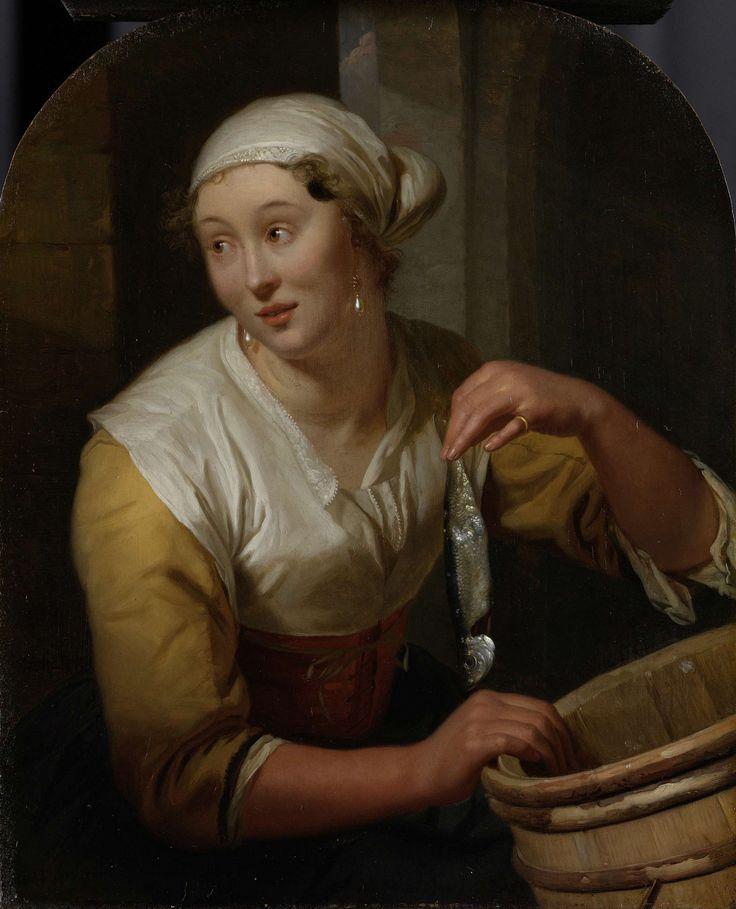 De haringverkoopster, Godfried Schalcken, 1675 - 1680
