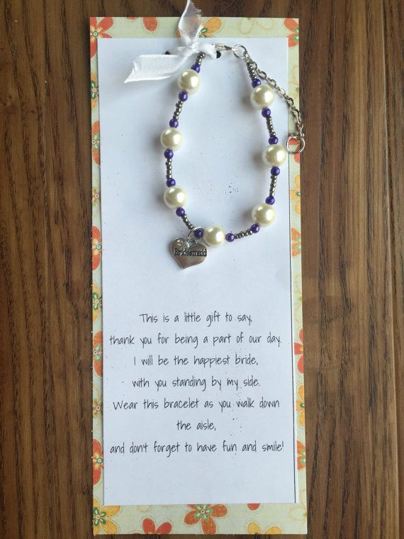 These bracelets can be made in any color and are perfect for rehearsal dinner gifts! They would be beautiful in your wedding colors for your bridesmaids to wear on your wedding day. NOTE: Each bracelet is made uniquely just for you. Although the bracelet will look different from the picture, it will be just as pretty.