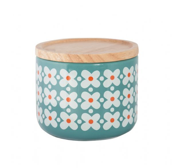 All That I Need - General Eclectic Small Canister - Blue/Flower, $12.00 (http://www.allthatineed.com.au/products/general-eclectic-small-canister-blue-flower.html)