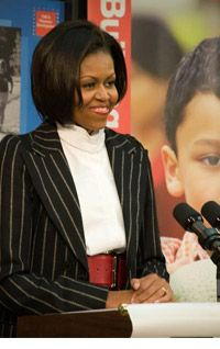 """first lady michelle obama launches let Chicago, ill – first lady michelle obama on thursday announced the launch of a program that the white house hopes will bring her """"let's move"""" campaign to some 50,000 us schoolsand she."""