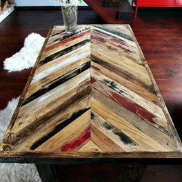 Hand Crafted recyclée Table basse en bois - Table de café multicolore fait main par DesignInFocus sur Etsy https://www.etsy.com/fr/listing/222133707/hand-crafted-recyclee-table-basse-en
