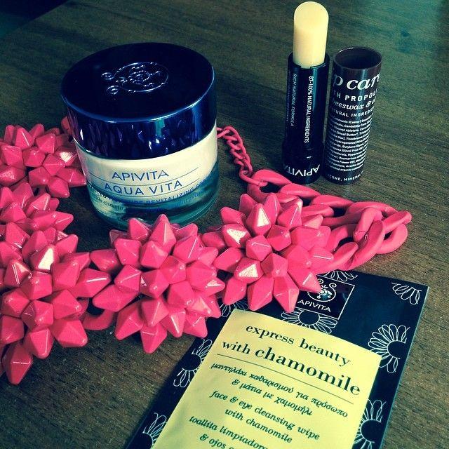 New @APIVITA SA goodies!! #new #goodies #apivita #fashionhasit #beauty #cream #relax #face #bee #hydration  http://www.apivita.com/