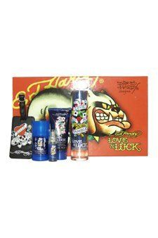 Ed Hardy Love & Luck by Christian Audigier for Men - 5 pc Gift Set by Christian Audigier. $60.40. Inspired by the nightlife of Toyko, this oriental scent has notes of citrus, sage, violet, musk, cedar, vetiver and cardamon.. 5 Pc Gift Set 3.4oz EDT Spray, 3oz Hair & Body Wash, 2.75oz Alcohol Free Deodorant, 7.5ml Mini EDT Spray, Luggage Tag with Original Ed Hardy Tattoo Design.. Ed Hardy Love & Luck by Christian Audigier for Men - 5 pc Gift Set.. Christian Audigier Ed Hardy L...