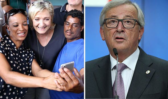 'She WON'T win!' Juncker refuses to consider Le Pen could be next French president  JEAN-Claude Juncker, the man who claimed Brexit would not happen, has predicted Marine Le Pen will not become the next French president  By NICK GUTTERIDGE AND KATIE MANSFIELD PUBLISHED: 18:58, Sun, Nov 27, 2016