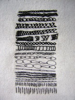 chain stitch - Roanna Wells