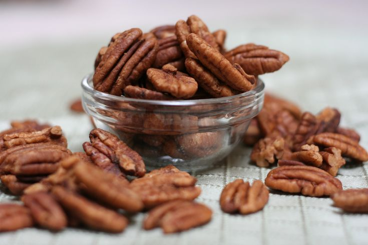 sugar and spice pecans or walnuts - dried in the dehydrator - so good I can't keep the family out of them - so much for storing for winter :0)  P.S.  if raw nuts bother your stomach, you will be happy to know these won't because the soaking and dehydrating remove the enzyme blockers that cause the problem