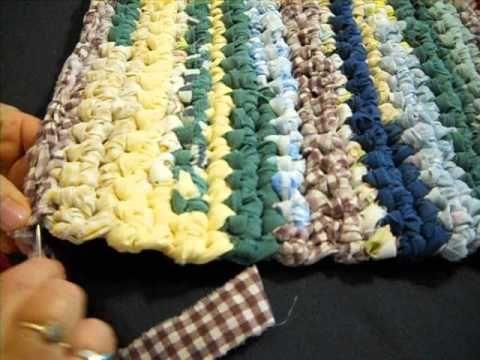 Runner Rag Rug of Many Colors (Super Easy Crochet) Part 2