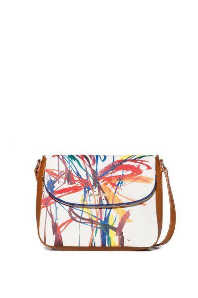 Sac bandoulière Acid Ink Breda Maxi Desigual. Découvre la collection printemps-été2018. Livraison et retours gratuits en boutique !