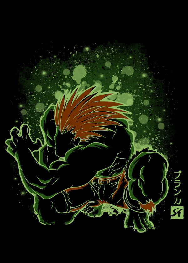 "Street Fighter Characters Blanka #Displate artwork by artist ""Soulkr Design"". Part of an 8-piece set featuring artwork based on characters from the popular Street Fighter video game franchise. £38 / $50 per poster (Regular size), £76 / $101 per poster (Large size) #StreetFighter #StreetFighterII #SuperStreetFighterII #SuperStreetFighterIITurbo #Capcom #Ryu #ChunLi #Akuma #Blanka #Vega #Ken #MBison #Cammy"
