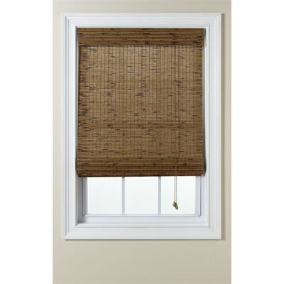 Custom Size Now by Levolor Tatami Light Filtering Woven Wood Natural Roman Shade