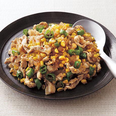 とうもろこしのレシピ(中華風) | 料理レシピ検索 | レタスクラブニュース 豚肉ととうもろこしのピリ辛炒め