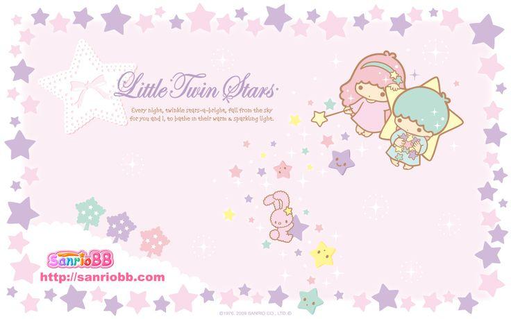 Little Twin Stars Wallpaper 2009 七月桌布 日本 SanrioBB Present A款
