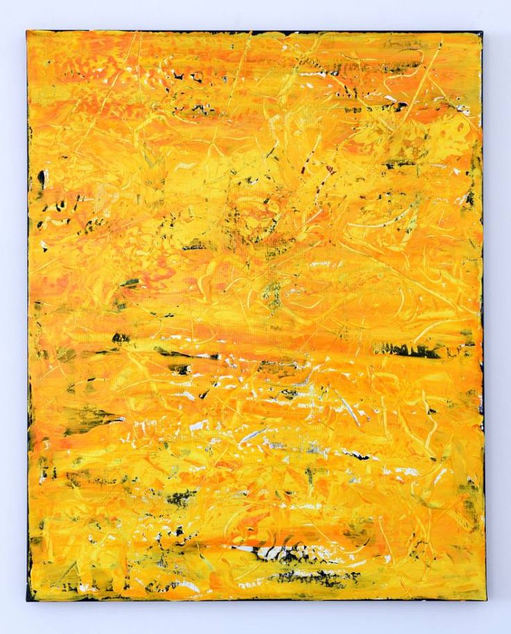 Buy HY121, a Acrylic on Canvas by Radek Smach from Czech Republic. It portrays: Abstract, relevant to: painting, structure, sun, texture, yellow, contemporary, abstract, minimal, modern, orange Original abstract layered painting on canvas. Ready to hang. No framing required (it can be framed). The sides of the painting are painted. Signed on the back