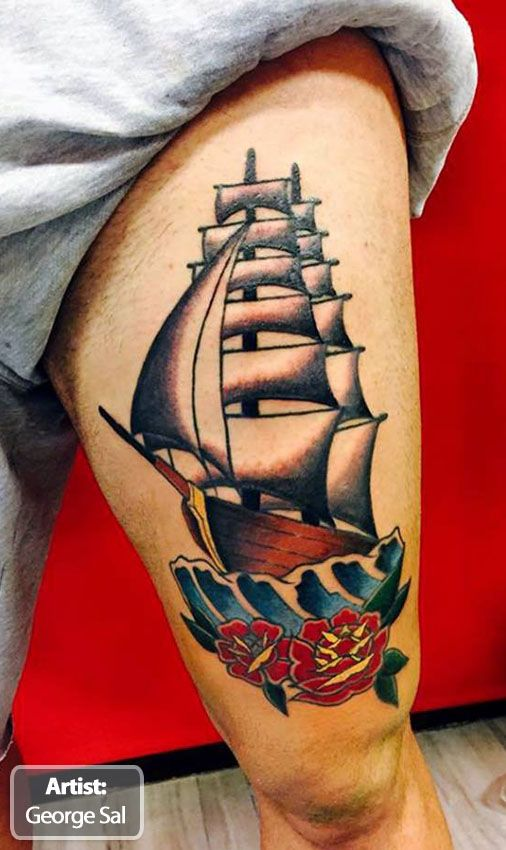 20 best best boat tattoos in the world images on pinterest for Coolest tattoos in the world