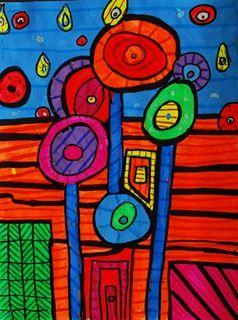Artsonia Art Gallery - Hundertwasser Line Design