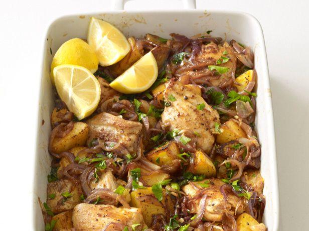 Spanish Chicken and Potato Roast Recipe : Food Network Kitchen : Food Network - FoodNetwork.com