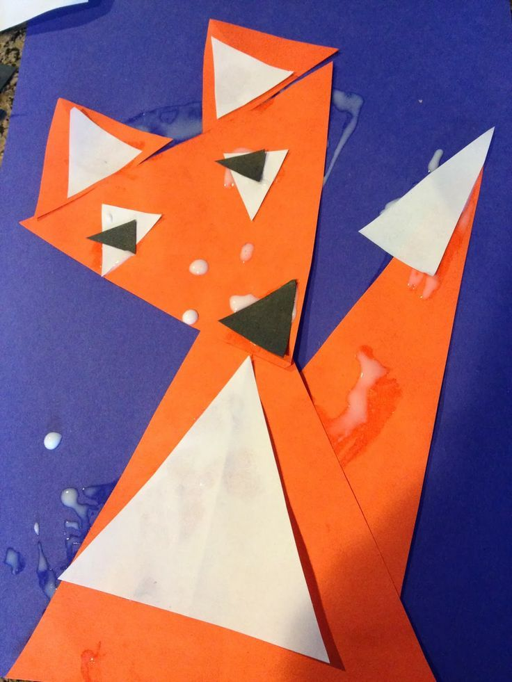 triangle craft for kindergarten | The Backup- Learning Shapes with Triangle Fox Craft