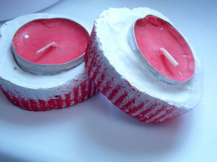 Kreatywnym Okiem: Dekoracyjne świeczniki z gipsu