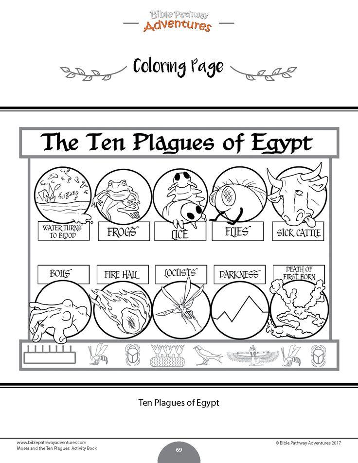 Moses and the Ten Plagues Bible Activity Book Bible