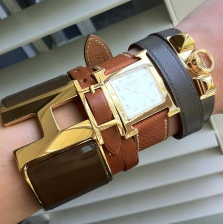 leather and Hermes stacking ♥✤ | Keep the Glamour | BeStayBeautiful