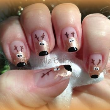 Nail Art noel avec les rennes // Christmas Nail Art with reindeer