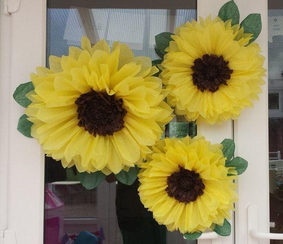 Resultado De Imagem Para Tissue Paper Pom Pom Sunflowers Paper