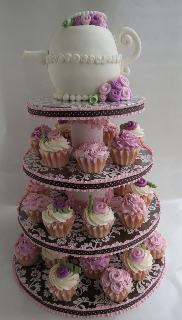 Teapot Cake And Cupcakes Cakes And Desserts Made By Me