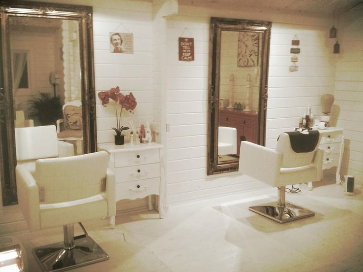 shabby chic hair salon log cabin salon decor
