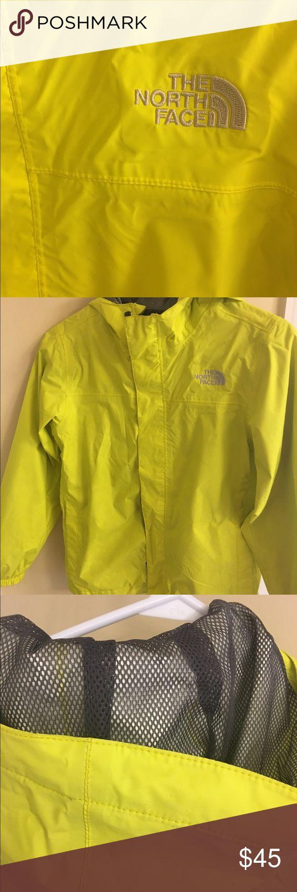 The North Face rain jacket. Boys/Girls north face rain jacket.  Bright YELLOW.  Size medium The North Face Jackets & Coats Raincoats