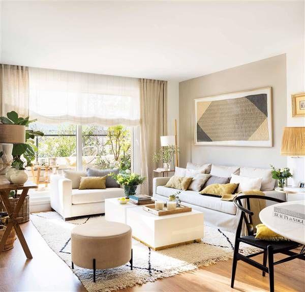 Con Un Mueble De Obra Polivalente Diseno De Sala Comedor Sala De Apartamento Pequeno Muebles Para Espacios Pequenos