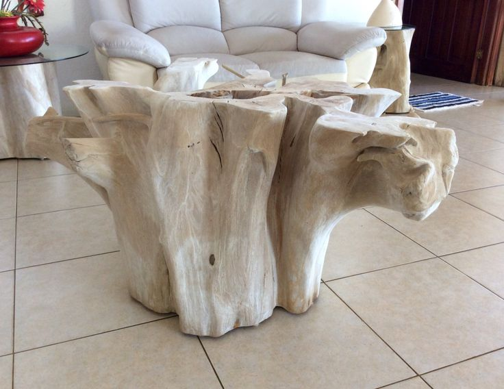 Exceptional Tree Stump Side Table