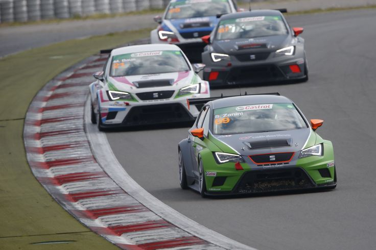 During the second race at the Nürburgring in Germany