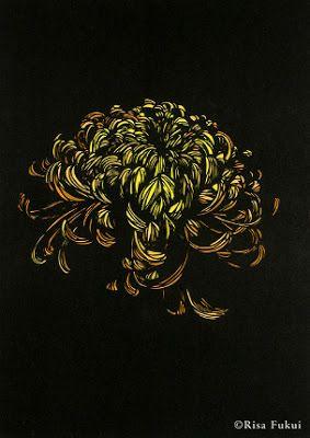 Flowers under glass / Flowers under Glass: Japanese artist Risa Fukui - master kirie / Kirie (paper cutout) artist Risa Fukui