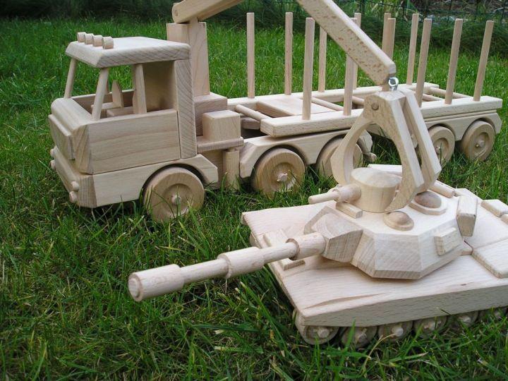 Zugmaschine Holztransport LKW Spielzeuge