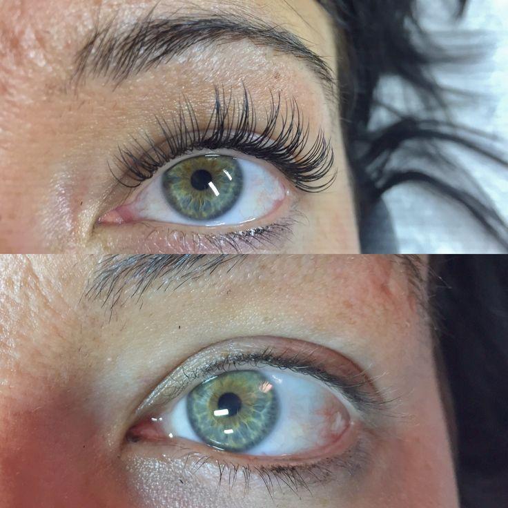 D curl, mink eyelash extension.