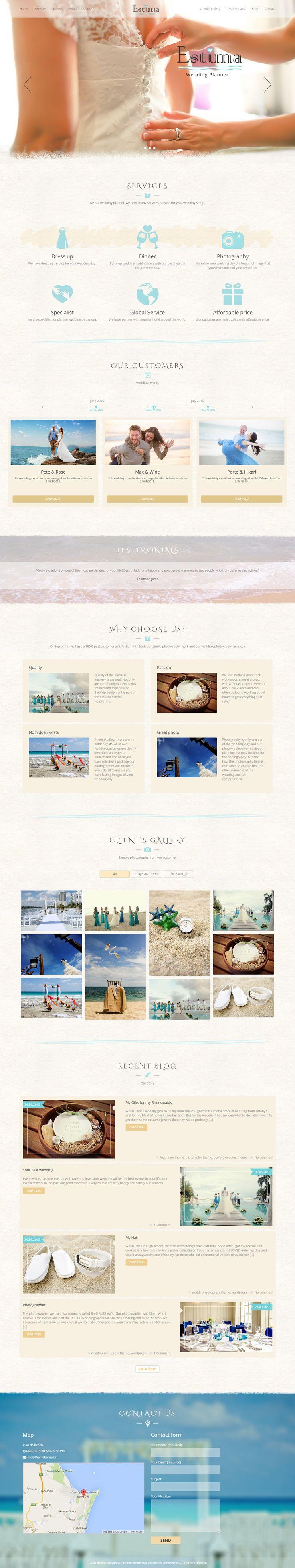 Demo web design for wedding planner
